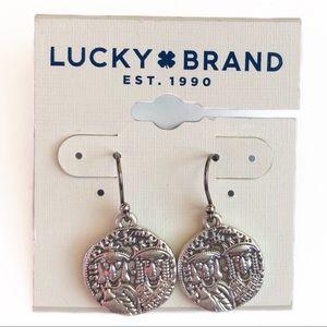 LUCKY BRAND Roman Silver Coin Drop Earrings NWT